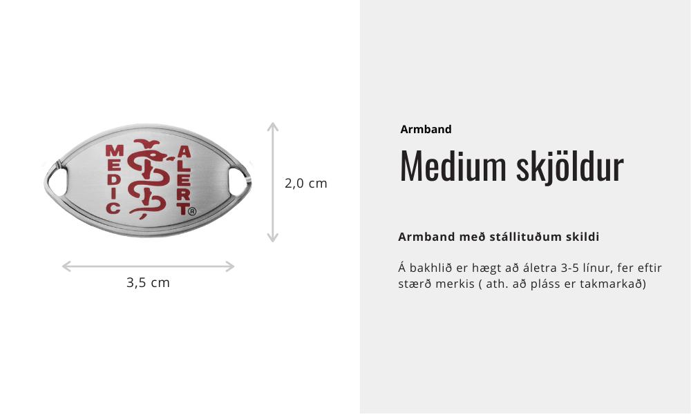 Armband - Medium skjöldur